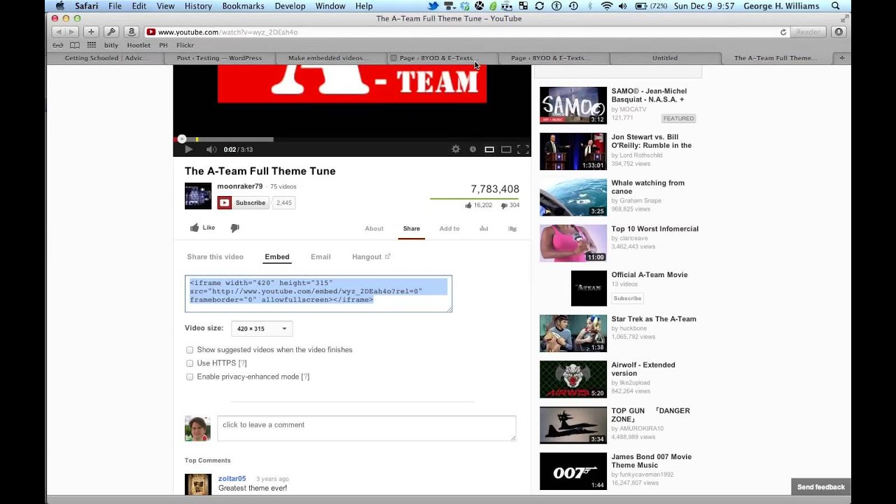How to embed a YouTube video and make it autoplay - YouTube