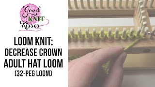 Adult Hat Loom Decrease Crown 36 Peg Round Loom With CC