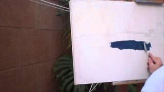 Pintar con espátula al óleo