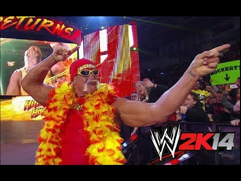 WWE RAW 2/24/2014 FULL SHOW (Hogan RETURNS) WWE 2K14 Simulation