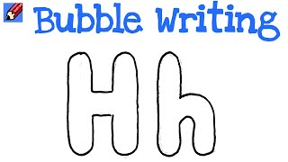 how to draw a bubble letter h