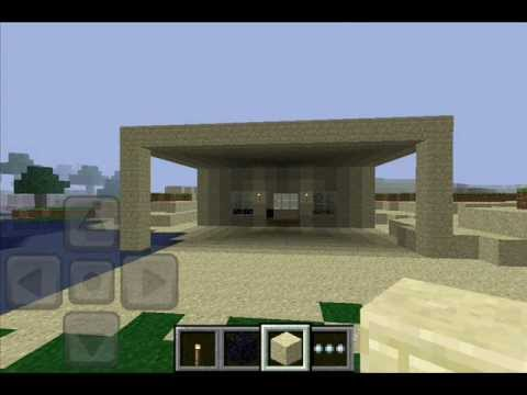 how to make a simple minecraft pocket edition house youtube