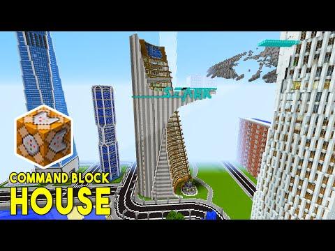 STARK TOWER IN MINECRAFT W Command Block Creations Command - Minecraft hauser comand