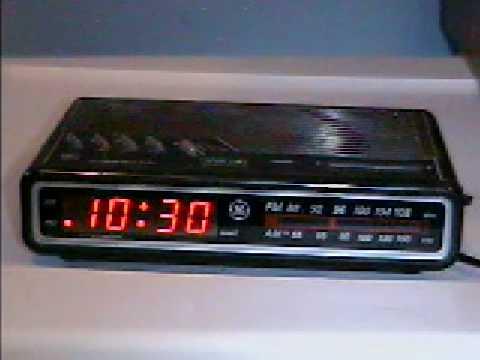 1993 ge digitial clock radio youtube. Black Bedroom Furniture Sets. Home Design Ideas