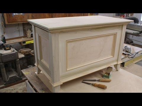 Build a blanket chest part 2 making the top by Jon Peters - YouTube