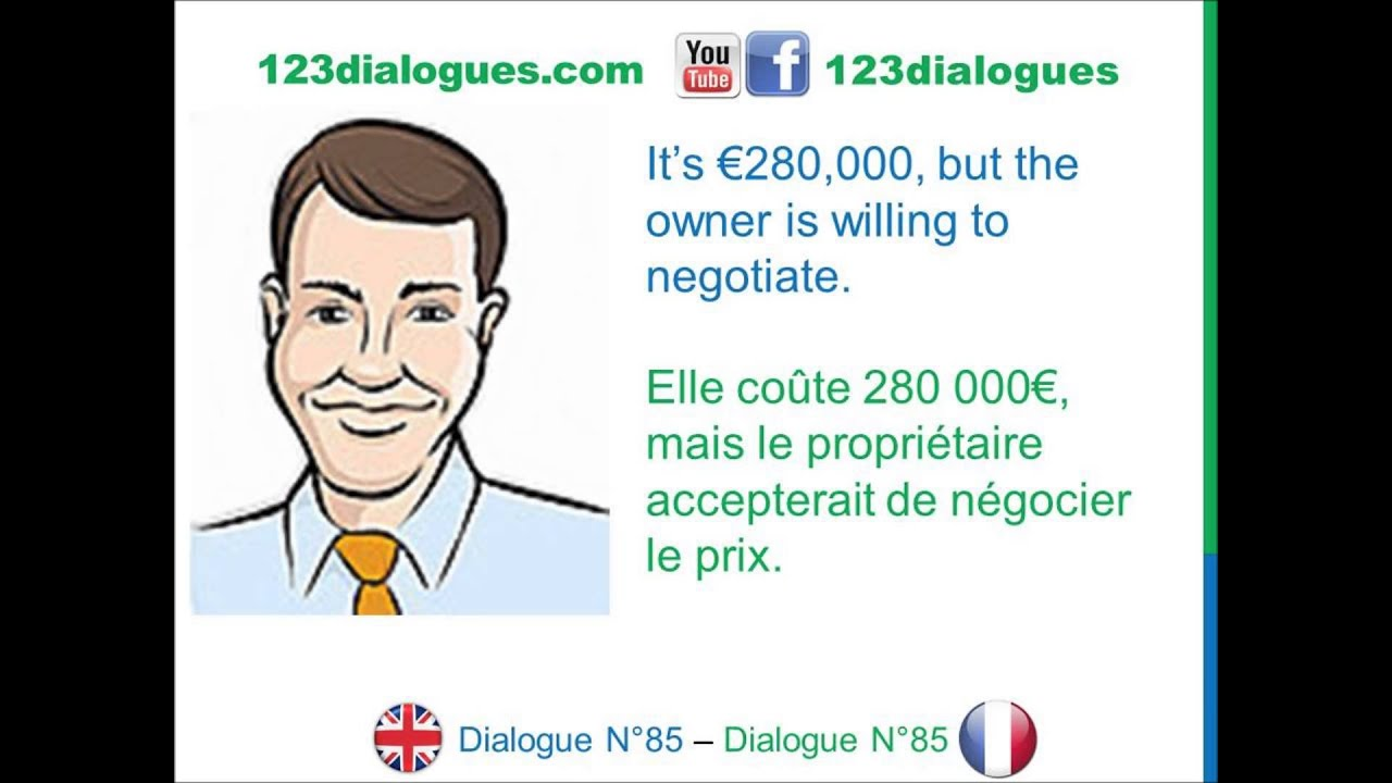 Dialogue 85 english french anglais fran ais buy a for Acheter une 2eme maison