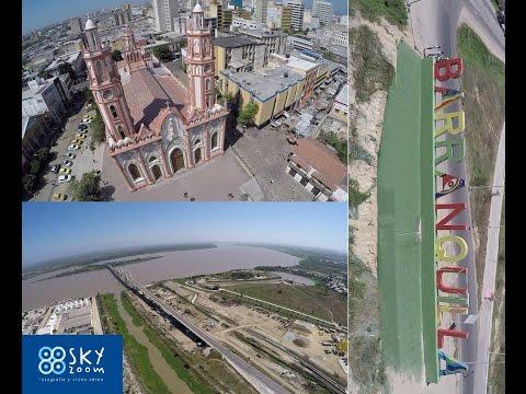 El viaje de un dron por Barranquilla