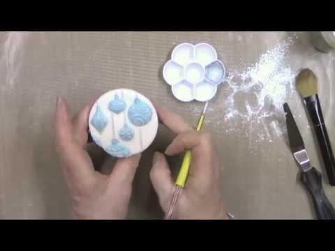 Katy Sue CHRISTMAS BAUBLES design mat silicone sugarcraft mould