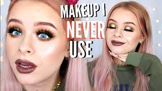 FULL FACE OF PRODUCTS I NEVER USE   sophdoesnails