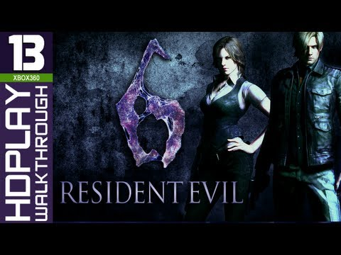 Resident Evil 6 Walkthrough - PART 13 | Leon & Helena (Chapter 5 City & Simmons Boss Fight)