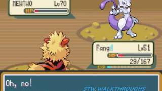 Pokemon Fire Red Walkthrough Part 56: Catching Mewtwo