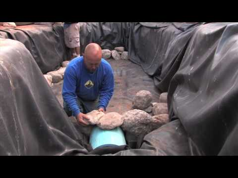 How to Install a Koi Fish Tunnel & set Rock as Walls in your Pond