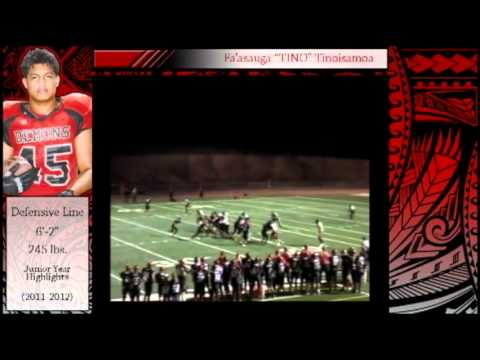 Fa'asauga Tinoisamoa Football Highlights
