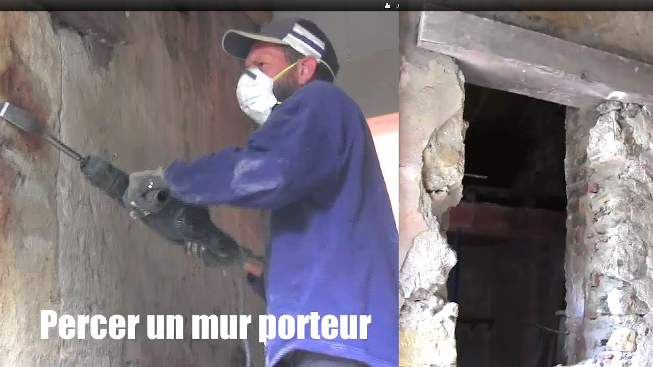 Mur porteur percer un mur how to drill a bearing wall to for Percer un mur porteur