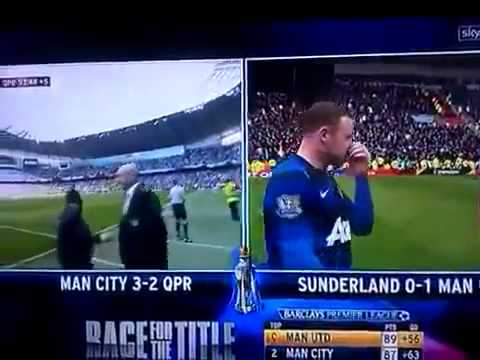 Aguero winning goal to win Manchester City the league 2012