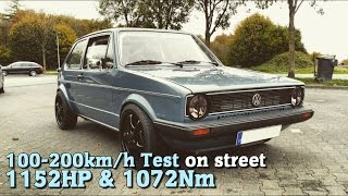Heavily Modded VW Golf Packs A Punch