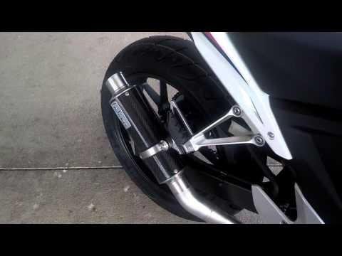Honda CBR500R SALE CBR500R CB500F CB500X Exhaust Sound Clip Leo Vince ...