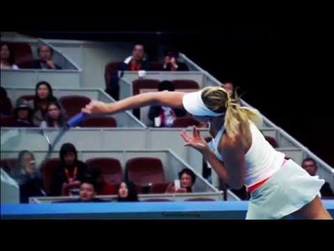 Sharapova serve Body rotation High quality Slow motion