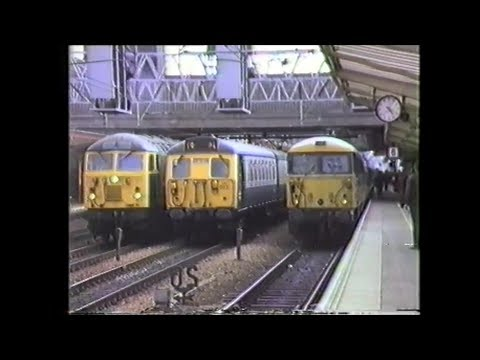 Trains In The 1980's   Crewe Diesel & Electric Variety, Autumn 1988