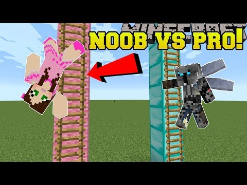 Minecraft NOOB VS PRO  KING OF THE LADDER  MiniGame