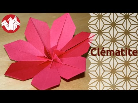 Origami cl matite clematis yvx for Comment entretenir une clematite