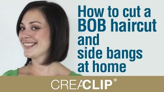How To Cut A BOB Haircut And Side Bangs At Home- Shoulder