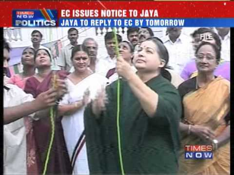 Election Commission issues notice to J Jayalalithaa