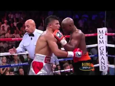Floyd Mayweather Sucker Punch Victor Ortiz KO
