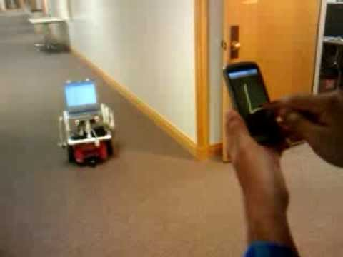 Touch Gesture Control of a Mobile Robot from an Android Smartphone