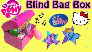 MLP Music Box Mystery Surprise Blind Bags Egg My Little Pony Littlest Pet Shop Hello Kitty Unboxing - Duration: 6:57.