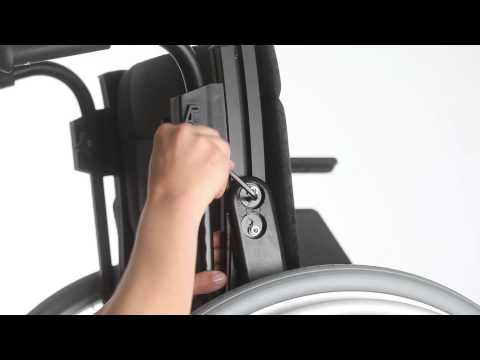 Wheelchair Etac Cross 5 - Guide - Adjust the back support lumbar angle ENG