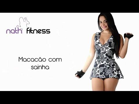 Nath Fitness - Moda Na Web | Macacão com sainha
