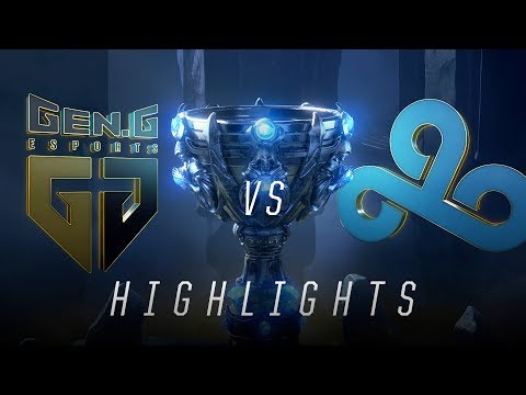 GEN vs C9 - Worlds Groups Stage Day 5 Match Highlights (2018)
