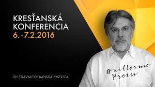 Kresťanská konferencia Guillermo Prein pozvánka