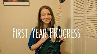 First Year Playing the Electric Guitar - Month by Month Progress