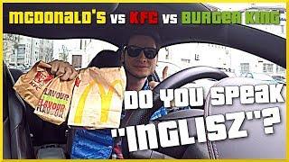 ROULETTE CHALLENGE PO ANGIELSKU (McDonald's vs KFC vs Burger King)