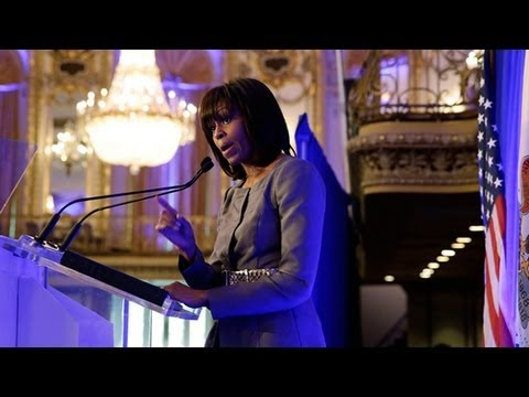 First Lady Michelle Obama Speaks at Meeting to...