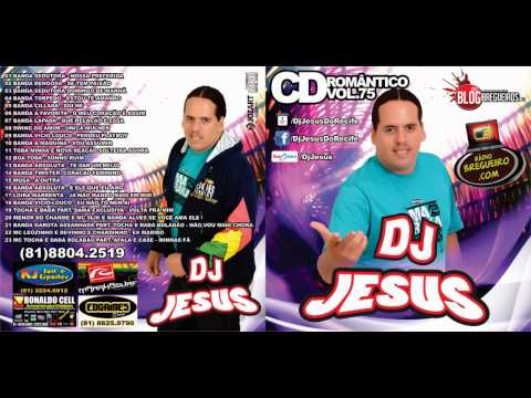 CD COMPLETO  BREGA ROMANTICO DJ JESUS VOL 75  - CD NOVO