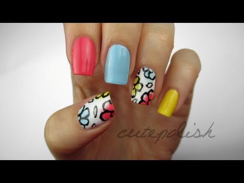 Floral Doodle Nails, Hey guys! How's it going?! Today I'd like to share this really adorable Floral Doodle ...