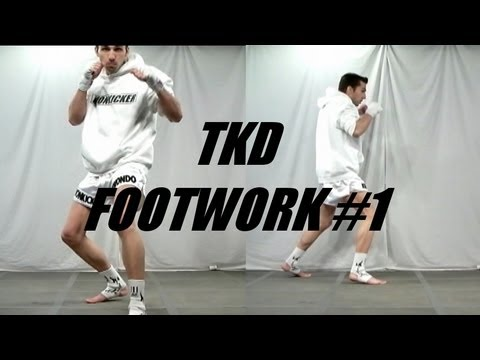 Taekwondo Footwork #1:  Switch, Step & Bounce (Kwonkicker)
