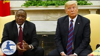 Kenyan President Meets Trump Shocks Him With His Authority
