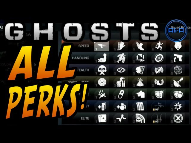 Call of Duty: GHOSTS Multiplayer - ALL PERKS! New Perk System & Info! - (COD Ghost Online)