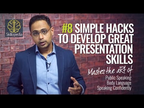8 tips for Great Presentation Skills - Public Speaking | Communication Skills | Body Language