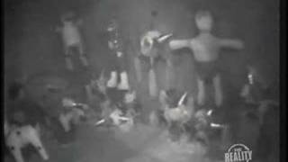 Man molesting a piñata caught on security camera