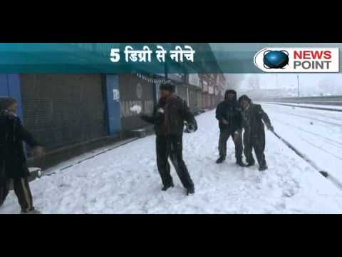 Heavy snowfall hits whole Srinagar