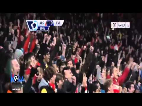 Arsenal vs Everton Highlights 1-1 All Goals 08 12 2013