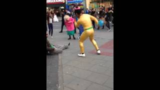 Guy Dance On The Streets Of Brighton