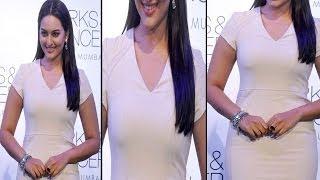 Hot Sonakshi Sinha In Tight White Dress Looks Slim & Sexy