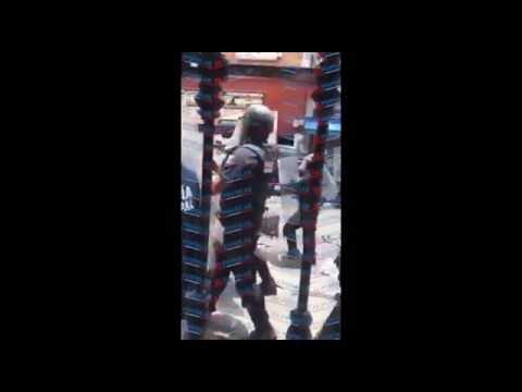 Policía de Puebla dispara contra ambulantes en operativo