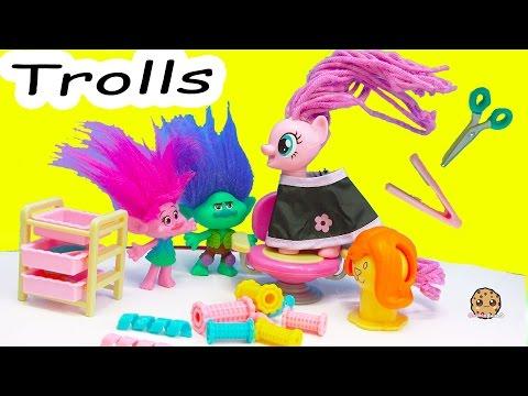 My Little Pony Twisty Twirly Wax Hair Style with Trolls Poppy & Branch - Toy Video